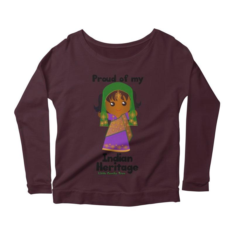Indian Heritage Girl Women's Longsleeve Scoopneck  by Yellow Fork Tech's Shop