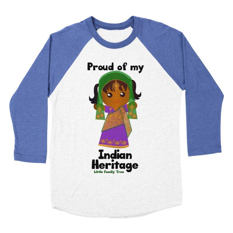 Indian Heritage Girl Women's Baseball Triblend T-Shirt by Yellow Fork Tech's Shop