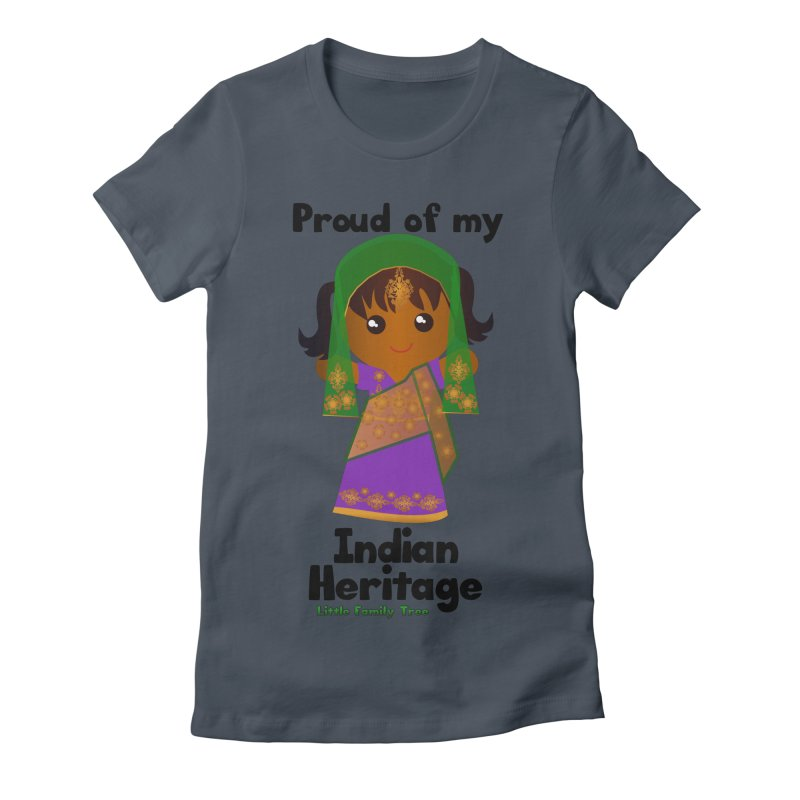 Indian Heritage Girl Women's Fitted T-Shirt by Yellow Fork Tech's Shop