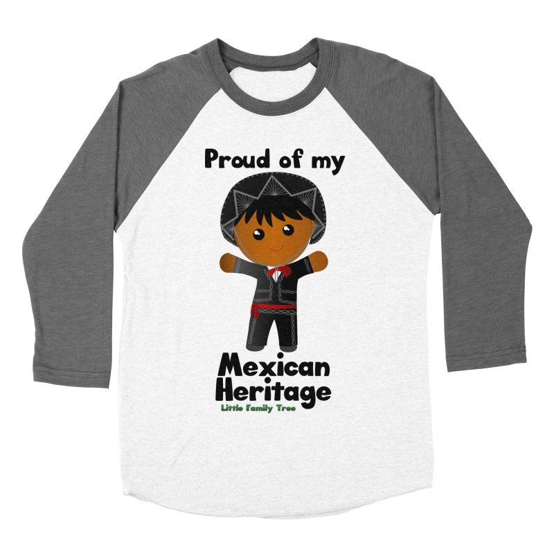 Mexican Heritage Boy Men's Baseball Triblend T-Shirt by Yellow Fork Tech's Shop