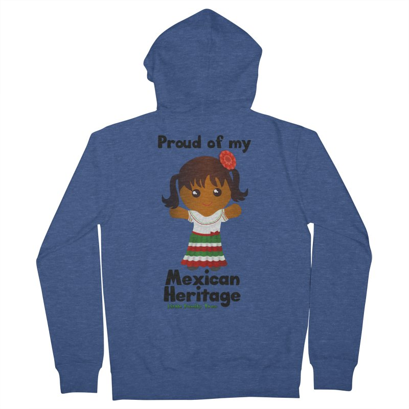 Mexican Heritage Girl Women's Zip-Up Hoody by Yellow Fork Tech's Shop