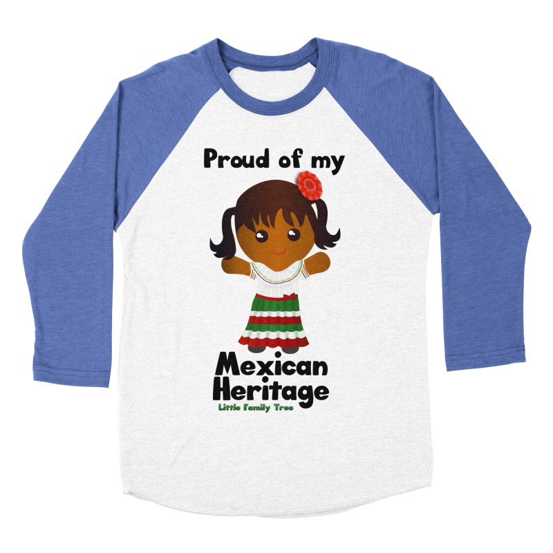 Mexican Heritage Girl Women's Baseball Triblend T-Shirt by Yellow Fork Tech's Shop