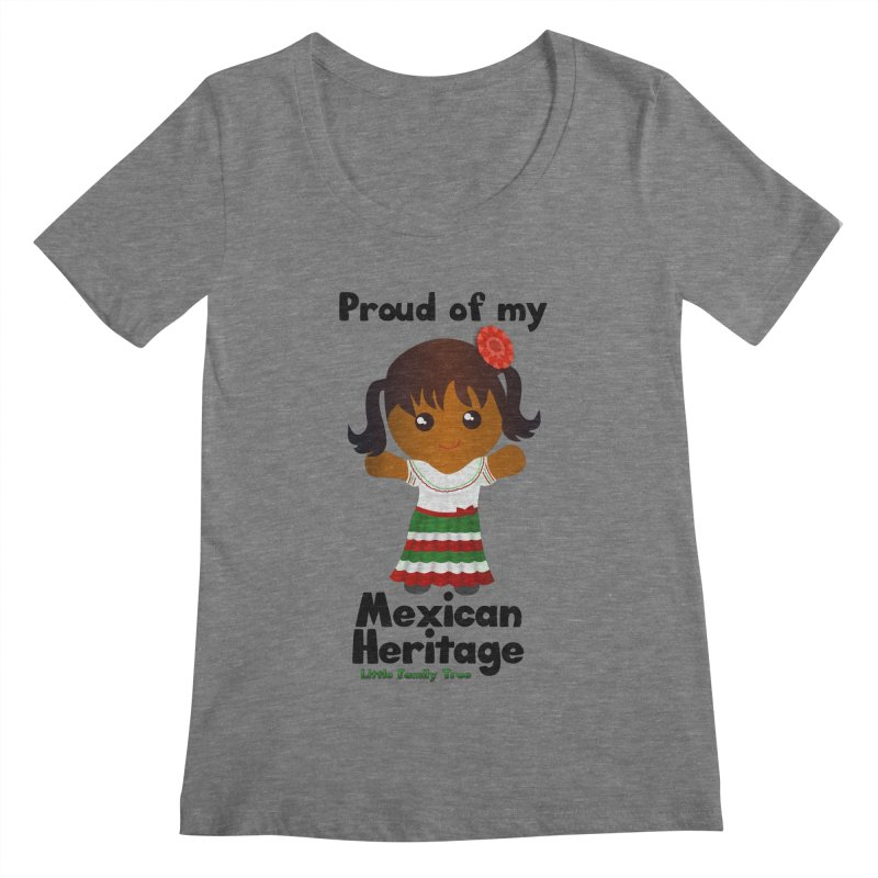 Mexican Heritage Girl Women's Scoopneck by Yellow Fork Tech's Shop