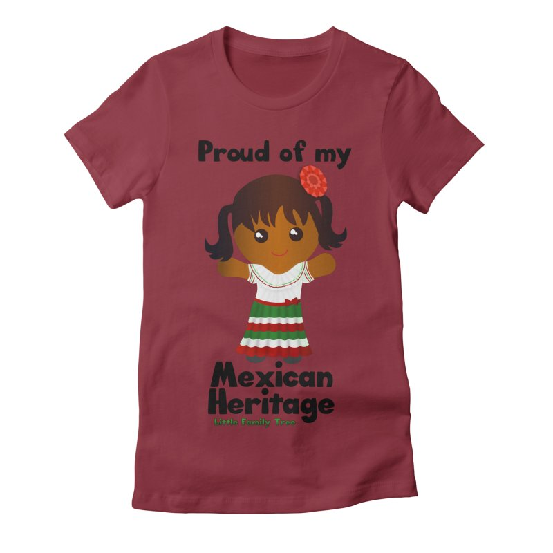 Mexican Heritage Girl Women's Fitted T-Shirt by Yellow Fork Tech's Shop