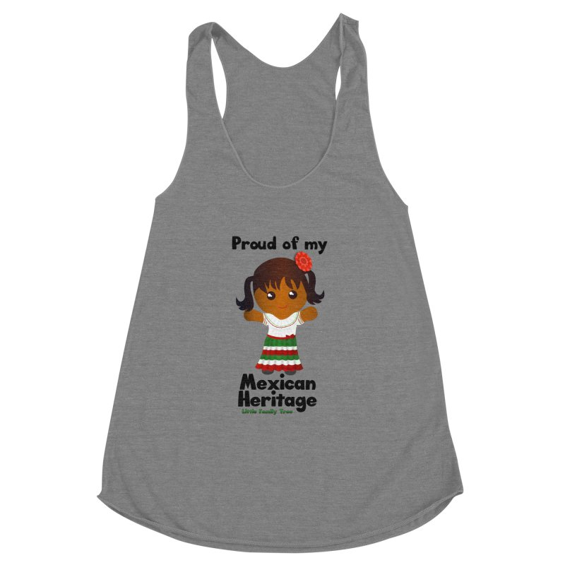 Mexican Heritage Girl Women's Racerback Triblend Tank by Yellow Fork Tech's Shop
