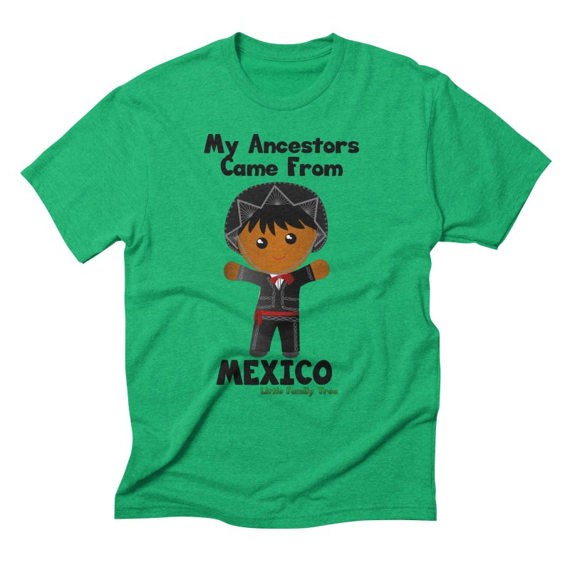 Mexico Ancestors Boy Men's Triblend T-Shirt by Yellow Fork Tech's Shop