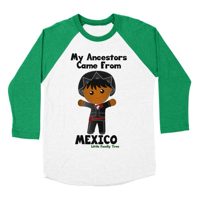 Mexico Ancestors Boy Men's Baseball Triblend T-Shirt by Yellow Fork Tech's Shop