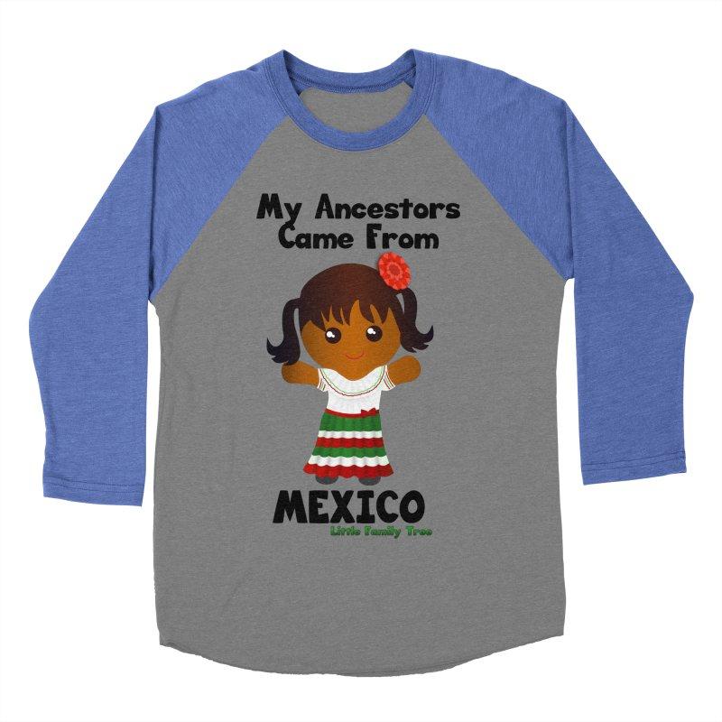 Mexico Ancestors Girl Women's Baseball Triblend T-Shirt by Yellow Fork Tech's Shop