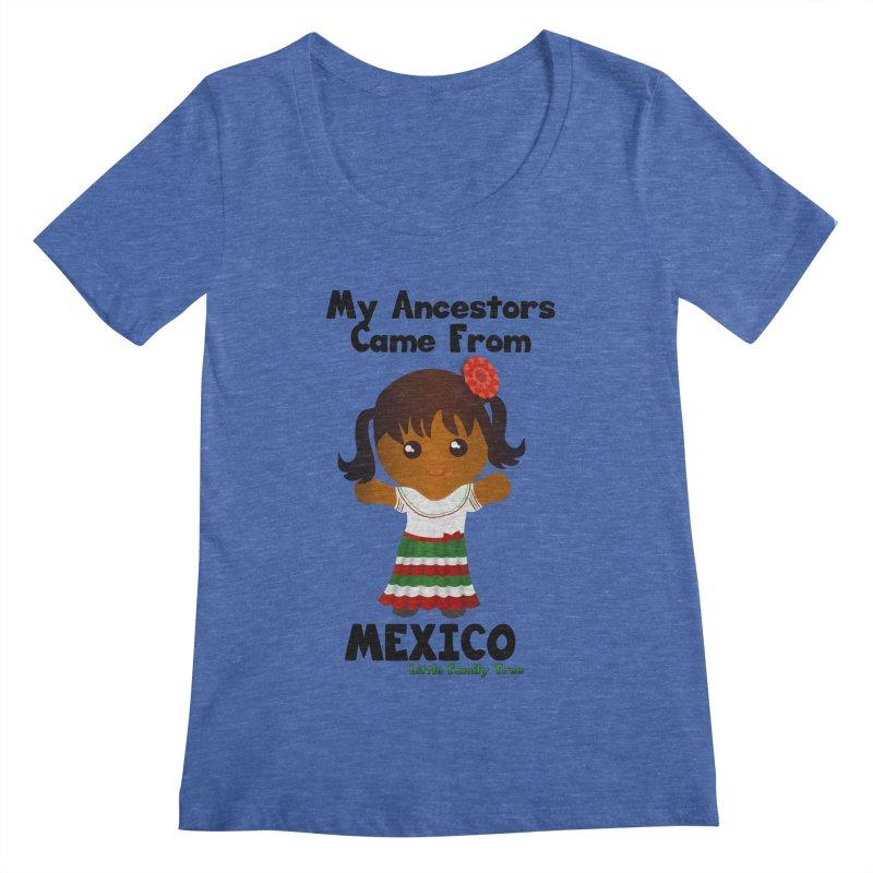 Mexico Ancestors Girl Women's Scoopneck by Yellow Fork Tech's Shop