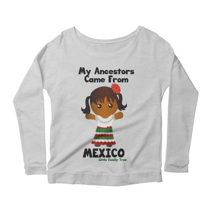 Mexico Ancestors Girl Women's Longsleeve Scoopneck  by Yellow Fork Tech's Shop
