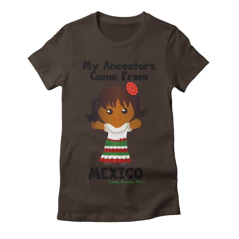 Mexico Ancestors Girl Women's Fitted T-Shirt by Yellow Fork Tech's Shop