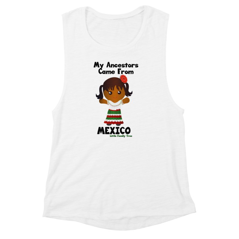 Mexico Ancestors Girl Women's Muscle Tank by Yellow Fork Tech's Shop