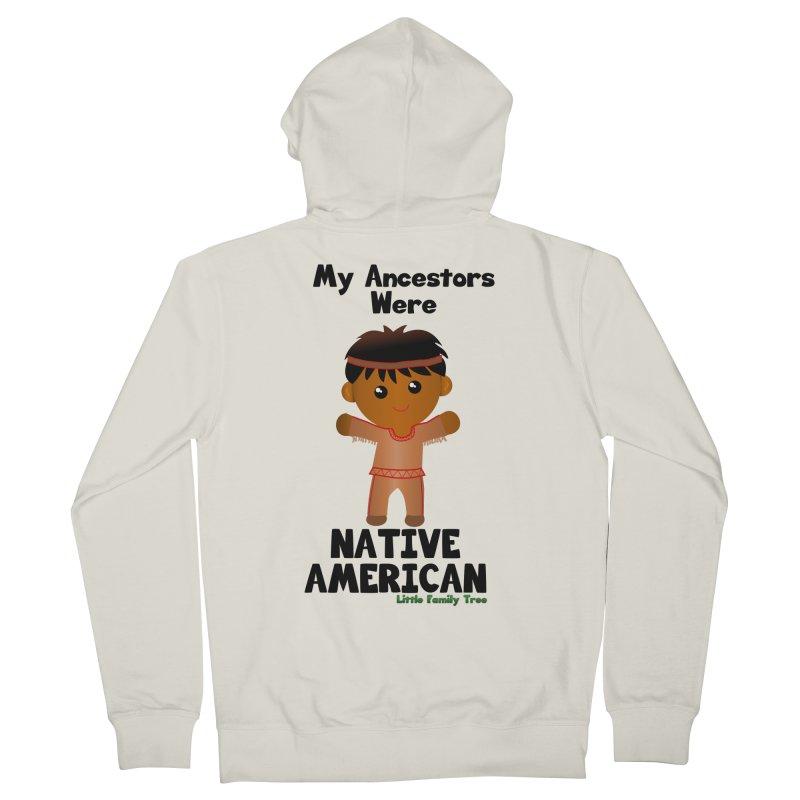 Native American Ancestors Boy Men's Zip-Up Hoody by Yellow Fork Tech's Shop