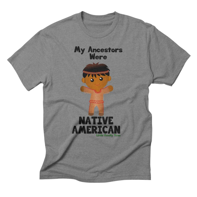 Native American Ancestors Boy Men's Triblend T-Shirt by Yellow Fork Tech's Shop