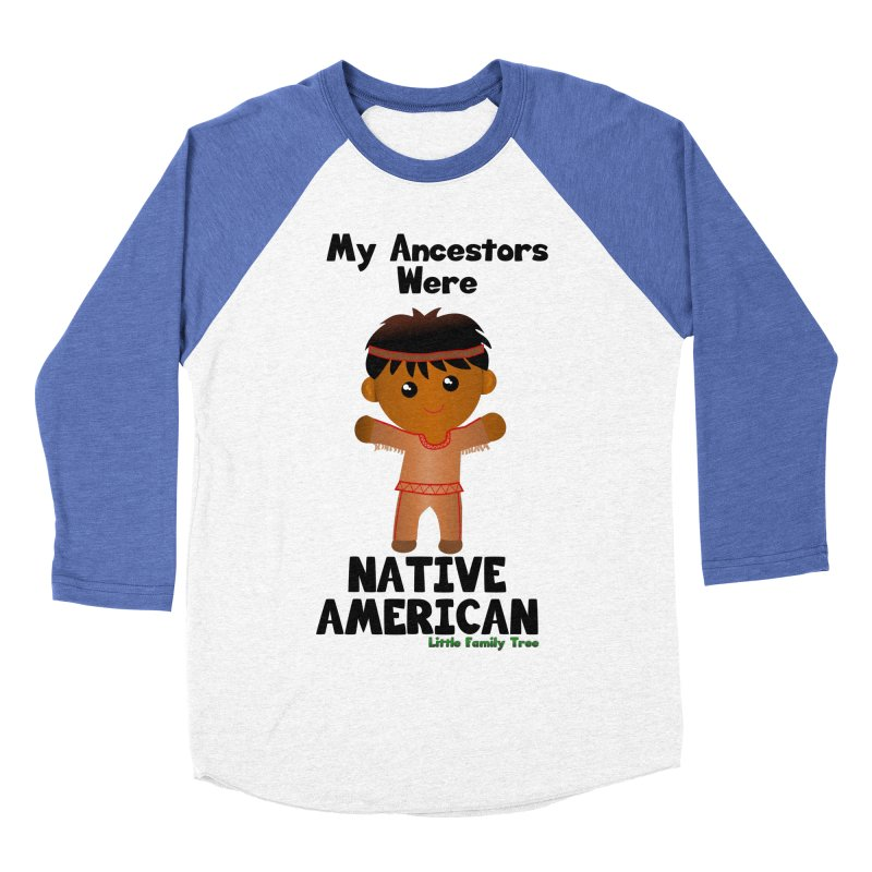 Native American Ancestors Boy Men's Baseball Triblend T-Shirt by Yellow Fork Tech's Shop