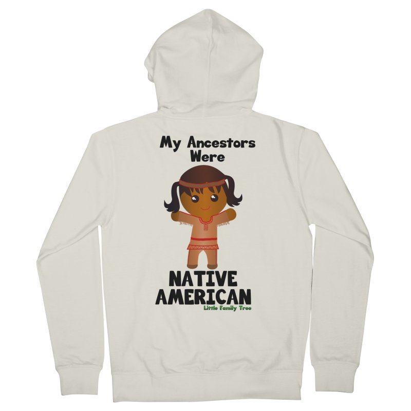 Native American Ancestors Girl Women's Zip-Up Hoody by Yellow Fork Tech's Shop