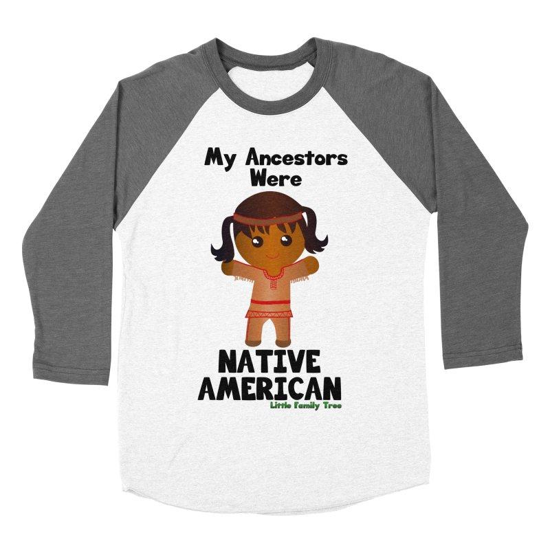 Native American Ancestors Girl Women's Baseball Triblend T-Shirt by Yellow Fork Tech's Shop