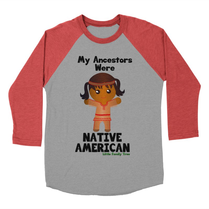 Native American Ancestors Girl Women's Baseball Triblend T-Shirt by Yellow Fork Tech's Shop