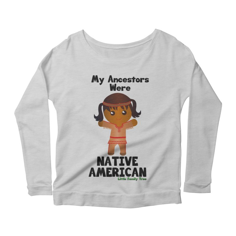 Native American Ancestors Girl Women's Longsleeve Scoopneck  by Yellow Fork Tech's Shop