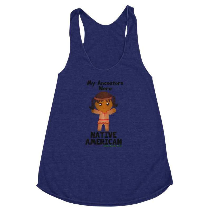Native American Ancestors Girl Women's Racerback Triblend Tank by Yellow Fork Tech's Shop
