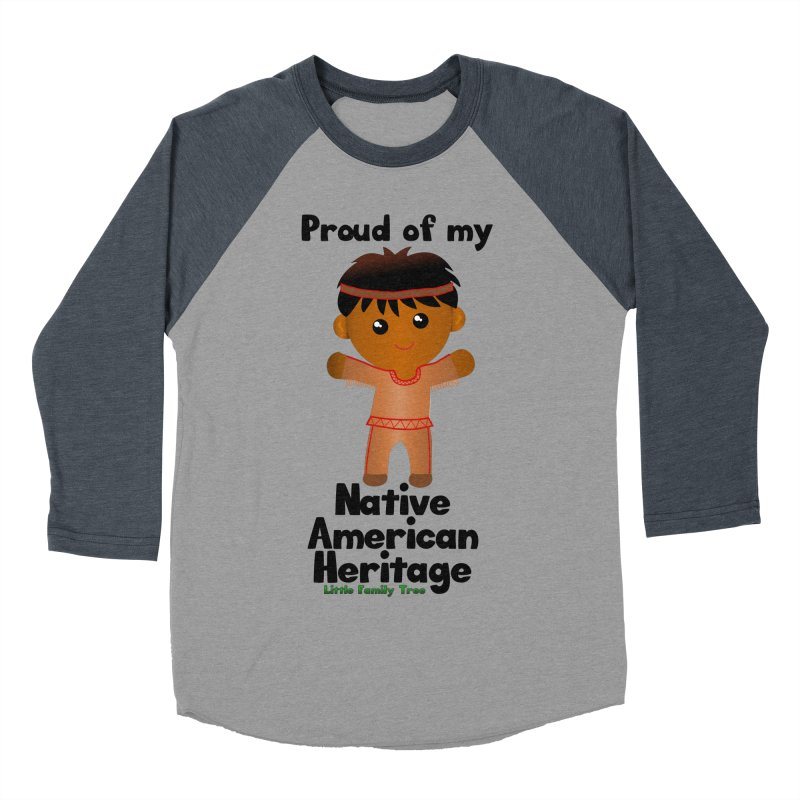 Native American Heritage Boy Men's Baseball Triblend T-Shirt by Yellow Fork Tech's Shop