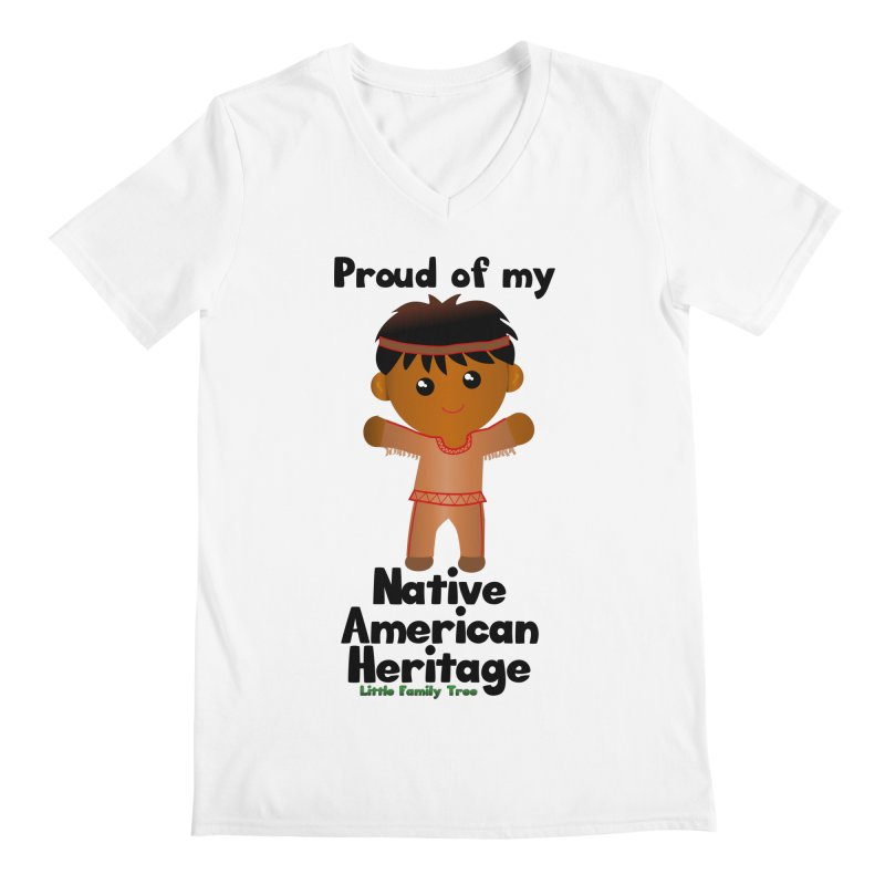 Native American Heritage Boy Men's V-Neck by Yellow Fork Tech's Shop