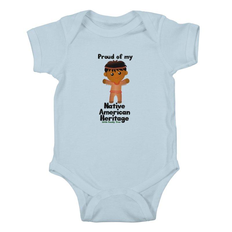 Native American Heritage Boy Kids Baby Bodysuit by Yellow Fork Tech's Shop
