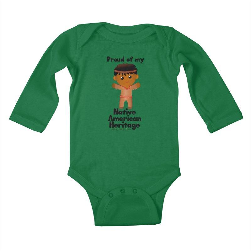 Native American Heritage Boy Kids Baby Longsleeve Bodysuit by Yellow Fork Tech's Shop