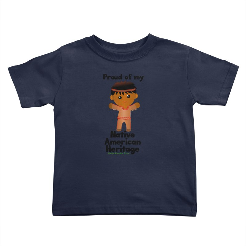 Native American Heritage Boy Kids Toddler T-Shirt by Yellow Fork Tech's Shop