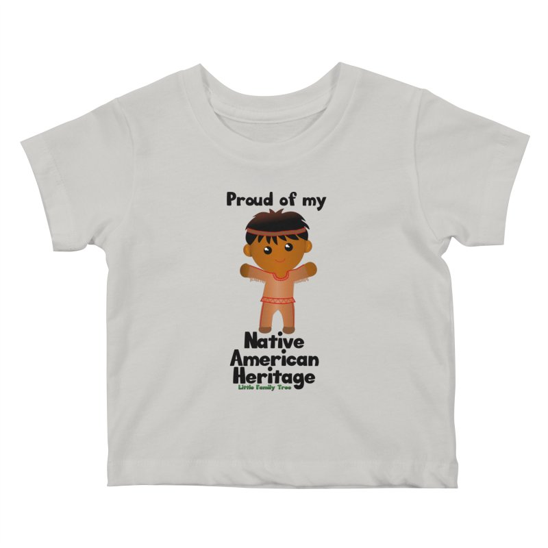 Native American Heritage Boy Kids Baby T-Shirt by Yellow Fork Tech's Shop