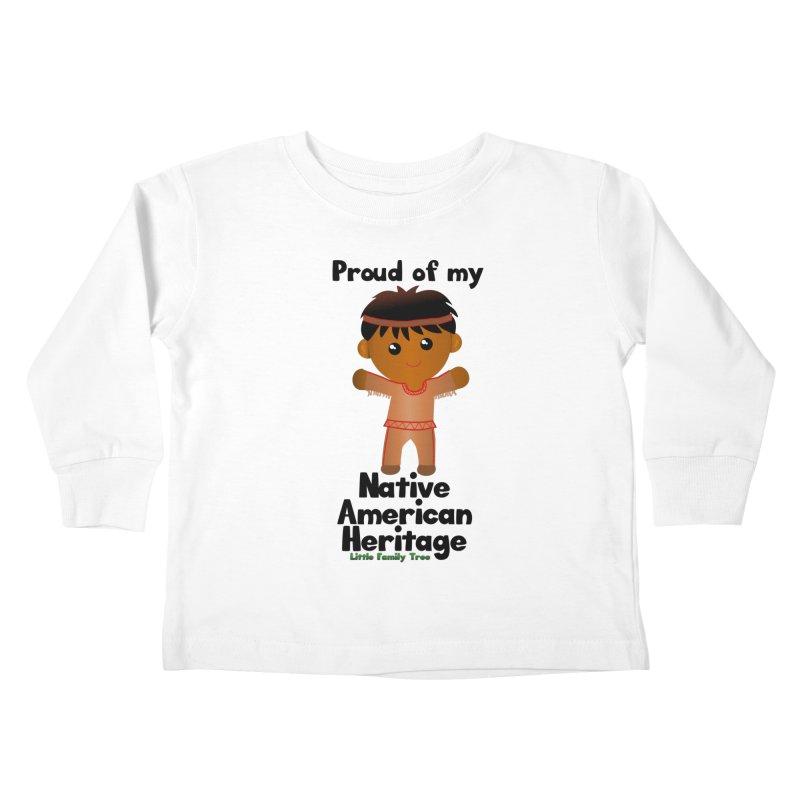 Native American Heritage Boy Kids Toddler Longsleeve T-Shirt by Yellow Fork Tech's Shop