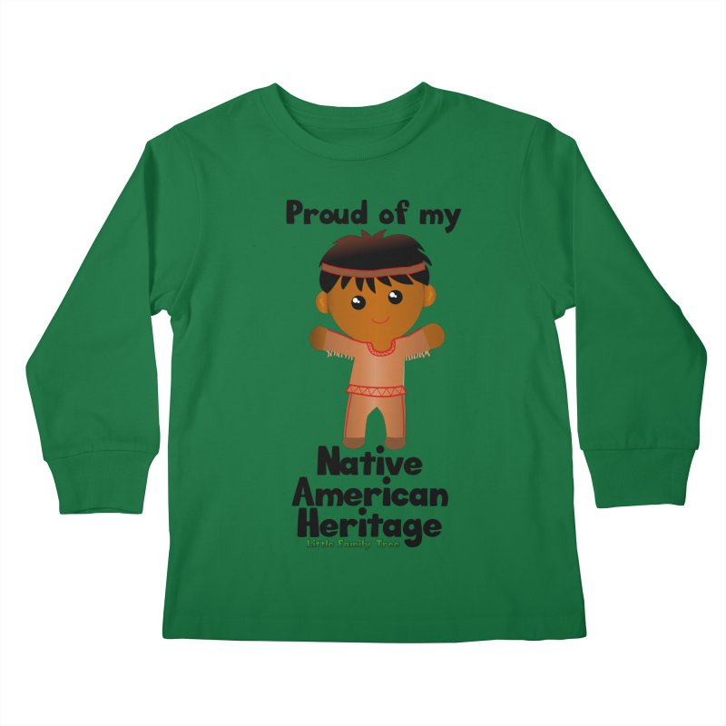 Native American Heritage Boy Kids Longsleeve T-Shirt by Yellow Fork Tech's Shop
