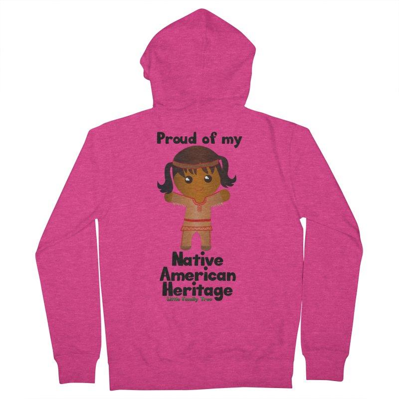 Native American Heritage Girl Women's Zip-Up Hoody by Yellow Fork Tech's Shop