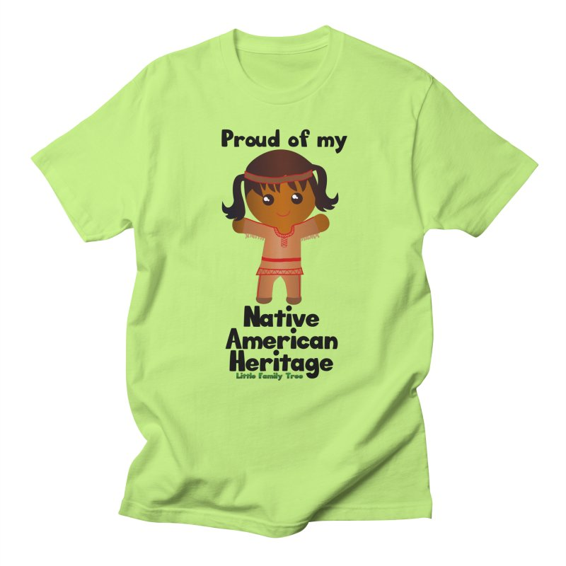 Native American Heritage Girl Women's Unisex T-Shirt by Yellow Fork Tech's Shop