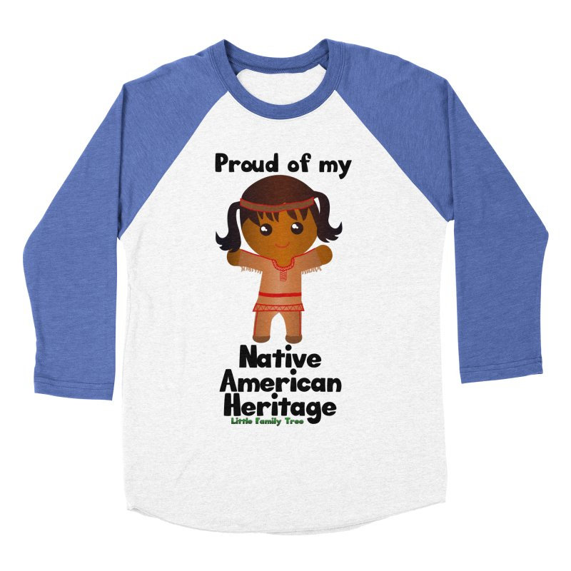 Native American Heritage Girl Women's Baseball Triblend T-Shirt by Yellow Fork Tech's Shop