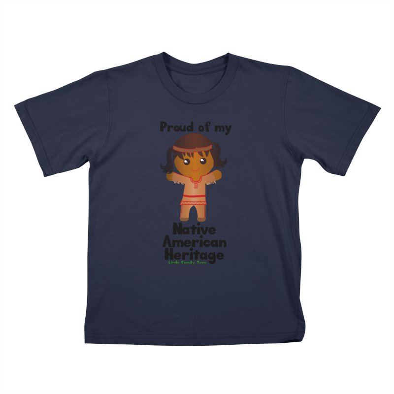 Native American Heritage Girl Kids T-Shirt by Yellow Fork Tech's Shop