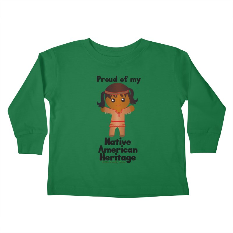 Native American Heritage Girl Kids Toddler Longsleeve T-Shirt by Yellow Fork Tech's Shop