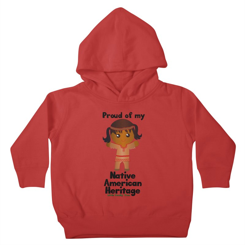 Native American Heritage Girl Kids Toddler Pullover Hoody by Yellow Fork Tech's Shop
