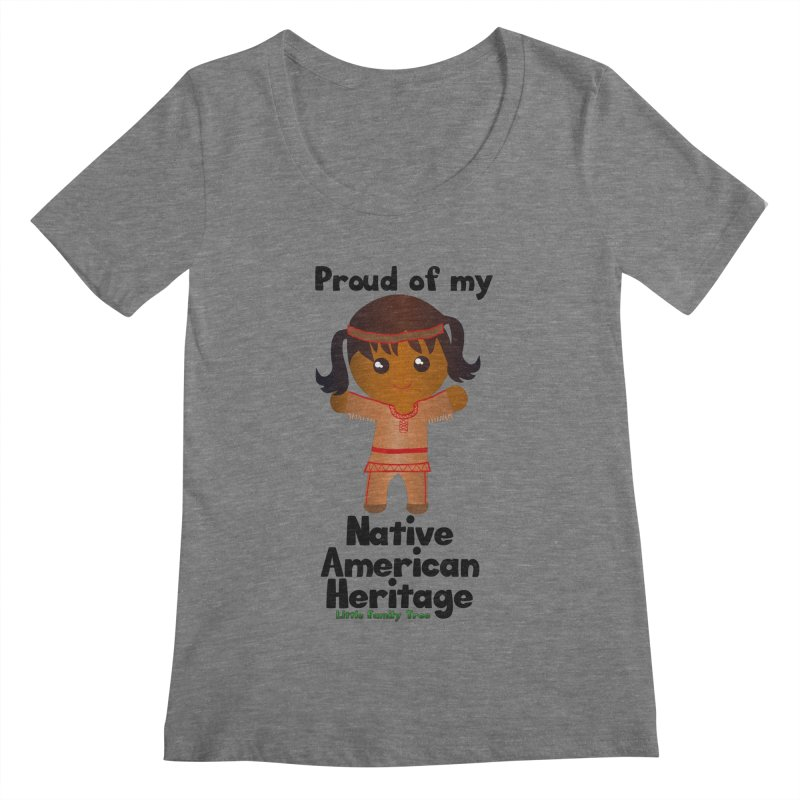 Native American Heritage Girl Women's Scoopneck by Yellow Fork Tech's Shop