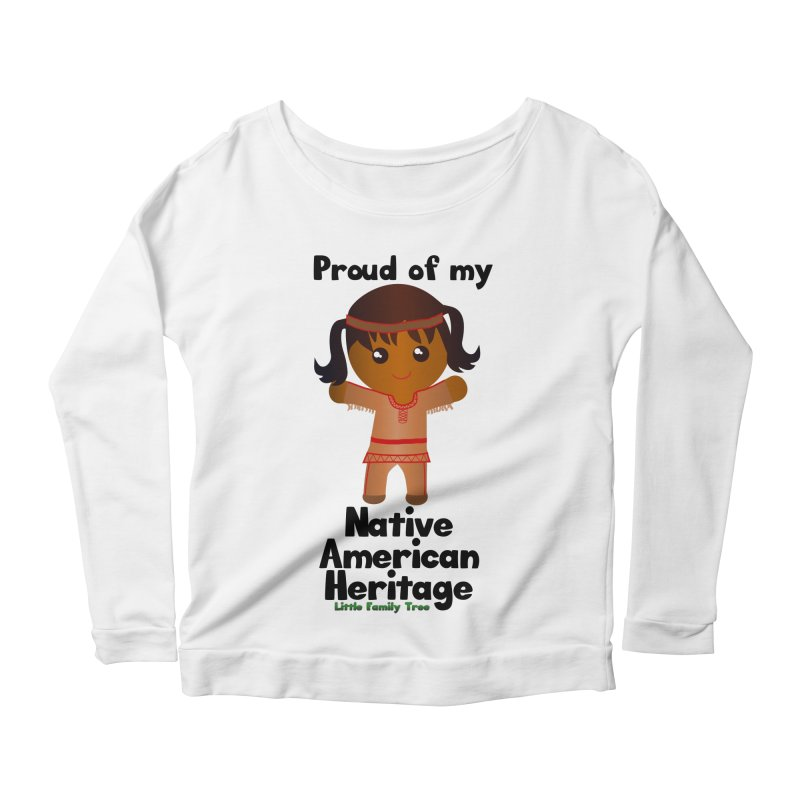 Native American Heritage Girl Women's Longsleeve Scoopneck  by Yellow Fork Tech's Shop