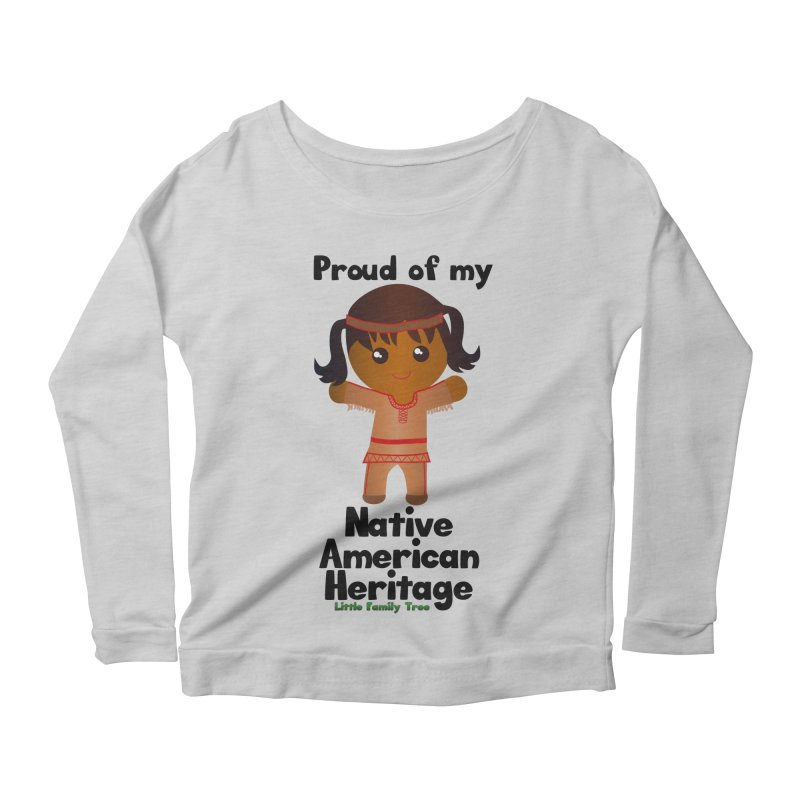 Native American Heritage Girl Women's Longsleeve Scoopneck  by Yellow Fork Tech's Shop
