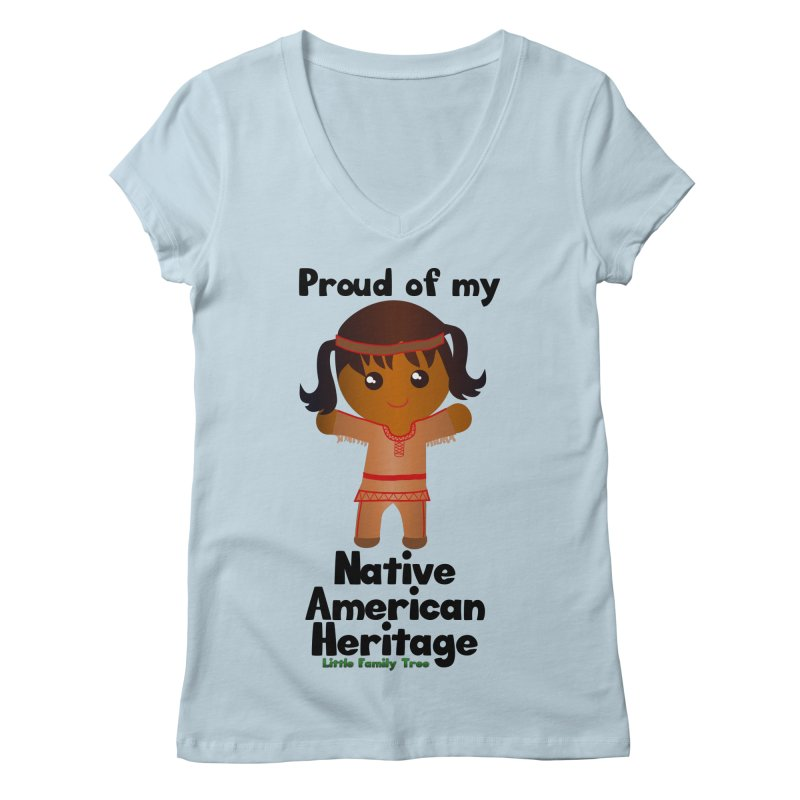 Native American Heritage Girl Women's V-Neck by Yellow Fork Tech's Shop