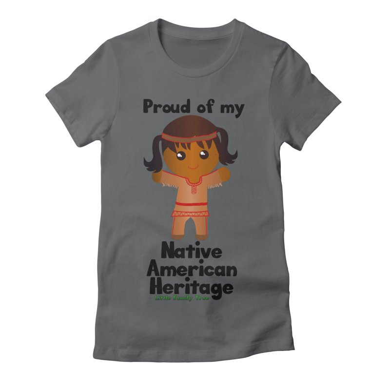 Native American Heritage Girl Women's Fitted T-Shirt by Yellow Fork Tech's Shop