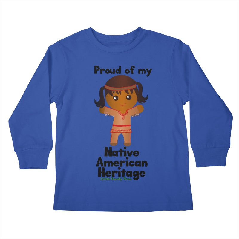 Native American Heritage Girl Kids Longsleeve T-Shirt by Yellow Fork Tech's Shop