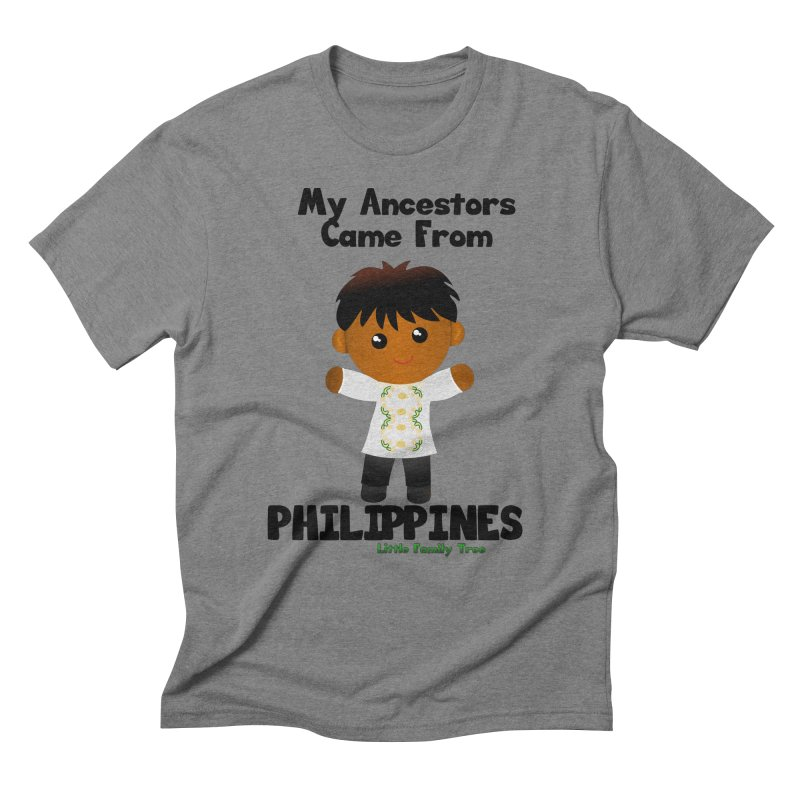 Philippines Ancestors Boy Men's Triblend T-shirt by Yellow Fork Tech's Shop