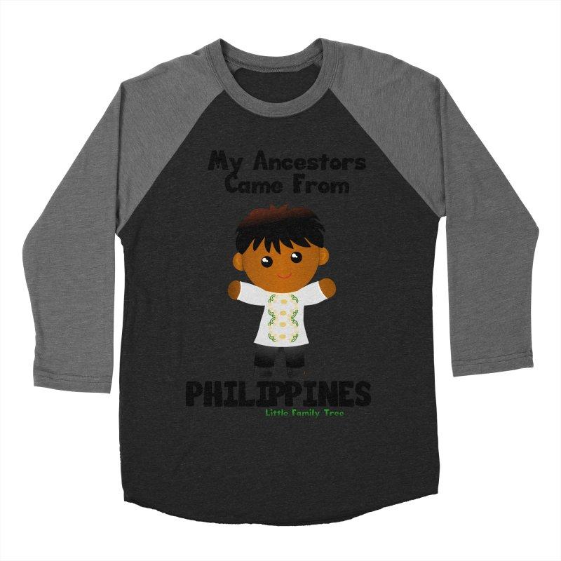 Philippines Ancestors Boy Men's Baseball Triblend T-Shirt by Yellow Fork Tech's Shop