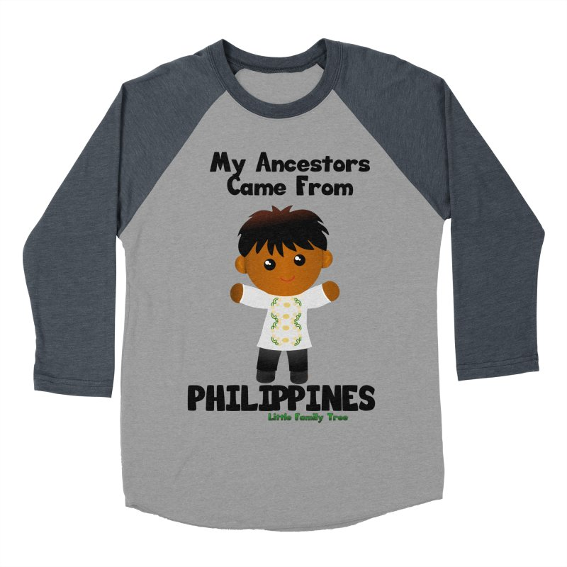Philippines Ancestors Boy Men's Baseball Triblend T-Shirt by Yellow Fork Tech's Shop