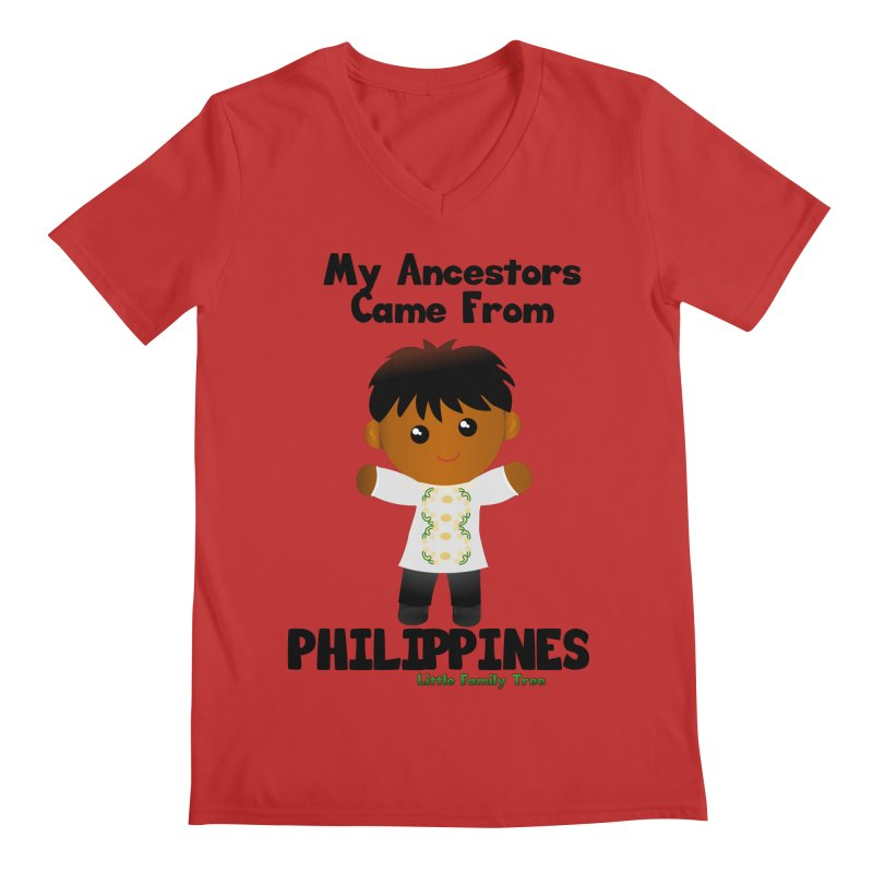 Philippines Ancestors Boy Men's V-Neck by Yellow Fork Tech's Shop