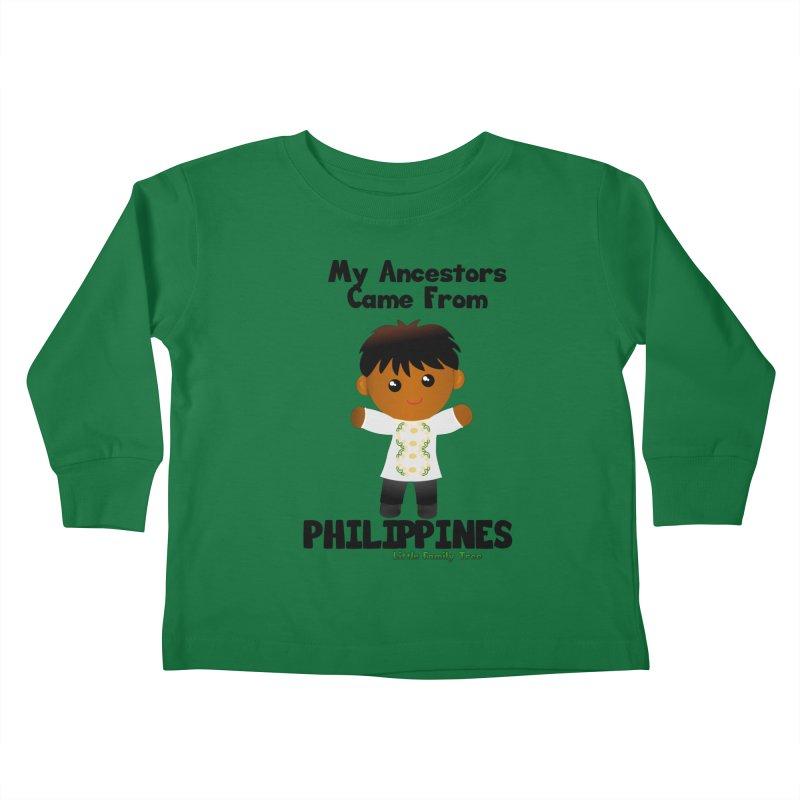 Philippines Ancestors Boy Kids Toddler Longsleeve T-Shirt by Yellow Fork Tech's Shop