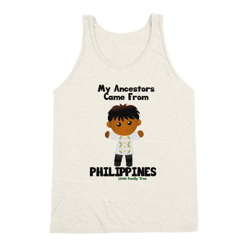Philippines Ancestors Boy Men's Triblend Tank by Yellow Fork Tech's Shop